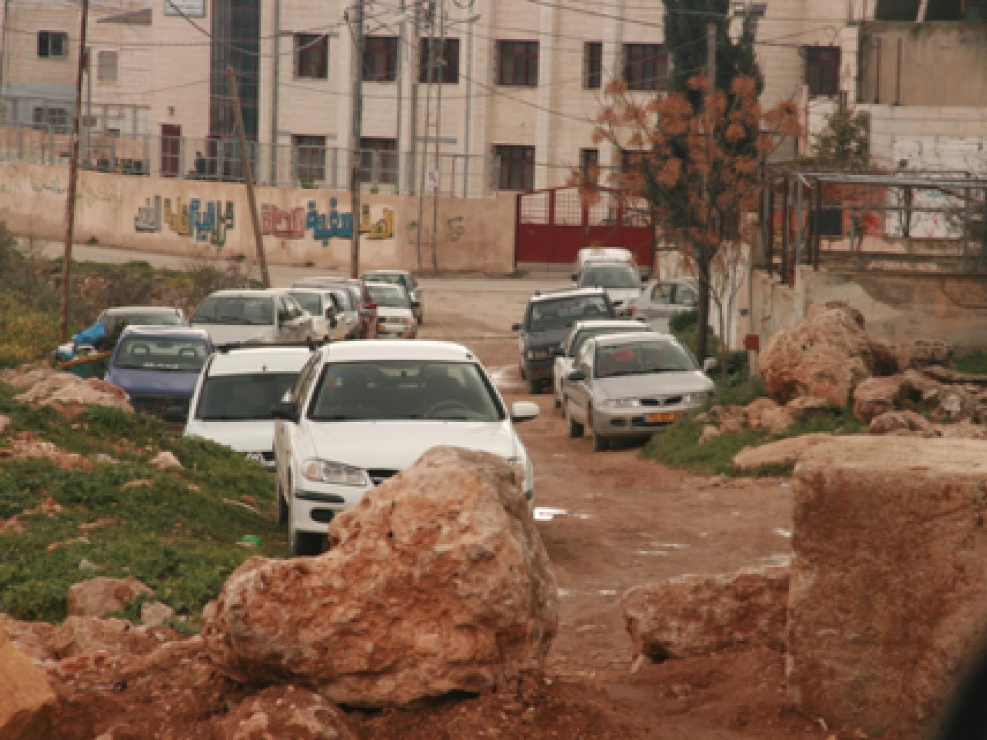 The blocked entrance to Qliqalis